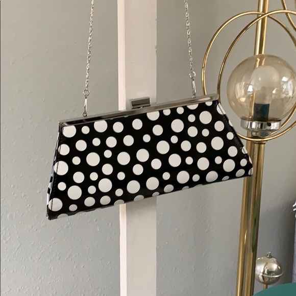 Neiman Marcus Handbags - Polka dot clutch